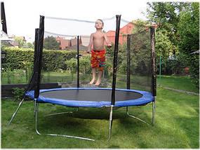 Батут SkyJump 13 фт., 404 см.з захисною сіткою та драбинкою -  КРАЩА ЦІНА!, фото 2