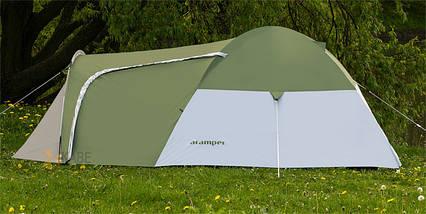 Палатка 4-х місна Presto Acamper MONSUN 4 PRO зелена - 3500мм. H2О - 4,1 кг., фото 3