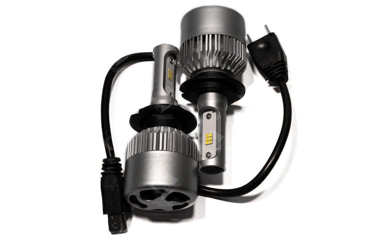 Комплект LED ламп HeadLight S2 H7 5000K 8000lm с вентилятором