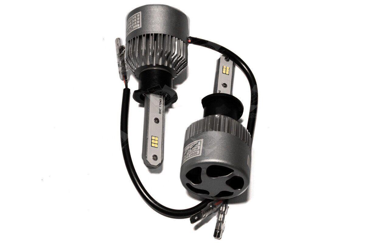 Комплект LED ламп HeadLight S2 H1 5000K 8000lm с вентилятором