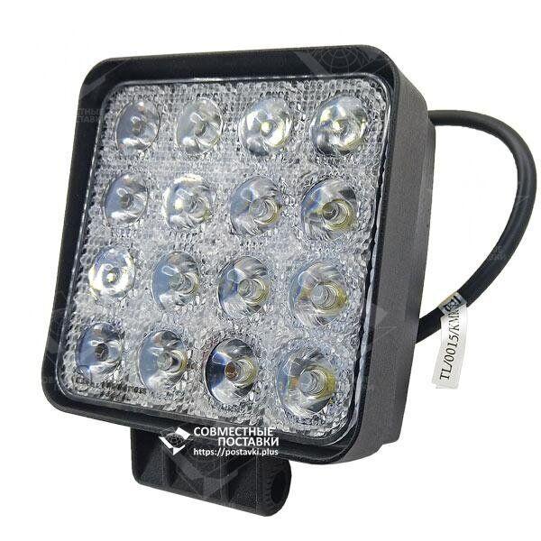 48W / 60 (16X3W / широкий луч, квадратный корпус) 3520 LM LED Фара рабочего L0081 (JFD-1052) (Польша) 5D48WT