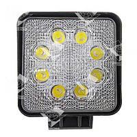 24W / 60 (8 x 3W / широкий луч,квадратный корпус) 1680 LM LED фара рабочая 1036 (GY-008Z03A), фото 1