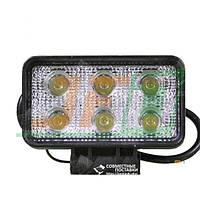 18W / 60 (6 x 3W / широкий луч, прямоугольний корпус) 1320 LM LED фара рабочая 1046 (GF-006Z03B) 18 Ватт