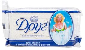 """Хозяйственное мыло Друг """"С отбеливающим эффектом"""" (125г.)"""