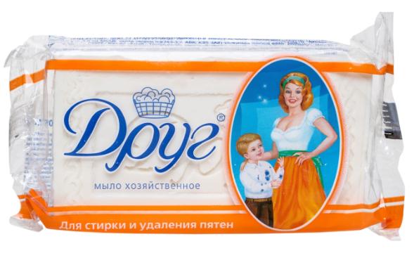 """Хозяйственное мыло Друг """"Для стирки и удаления пятен"""" (125г.)"""