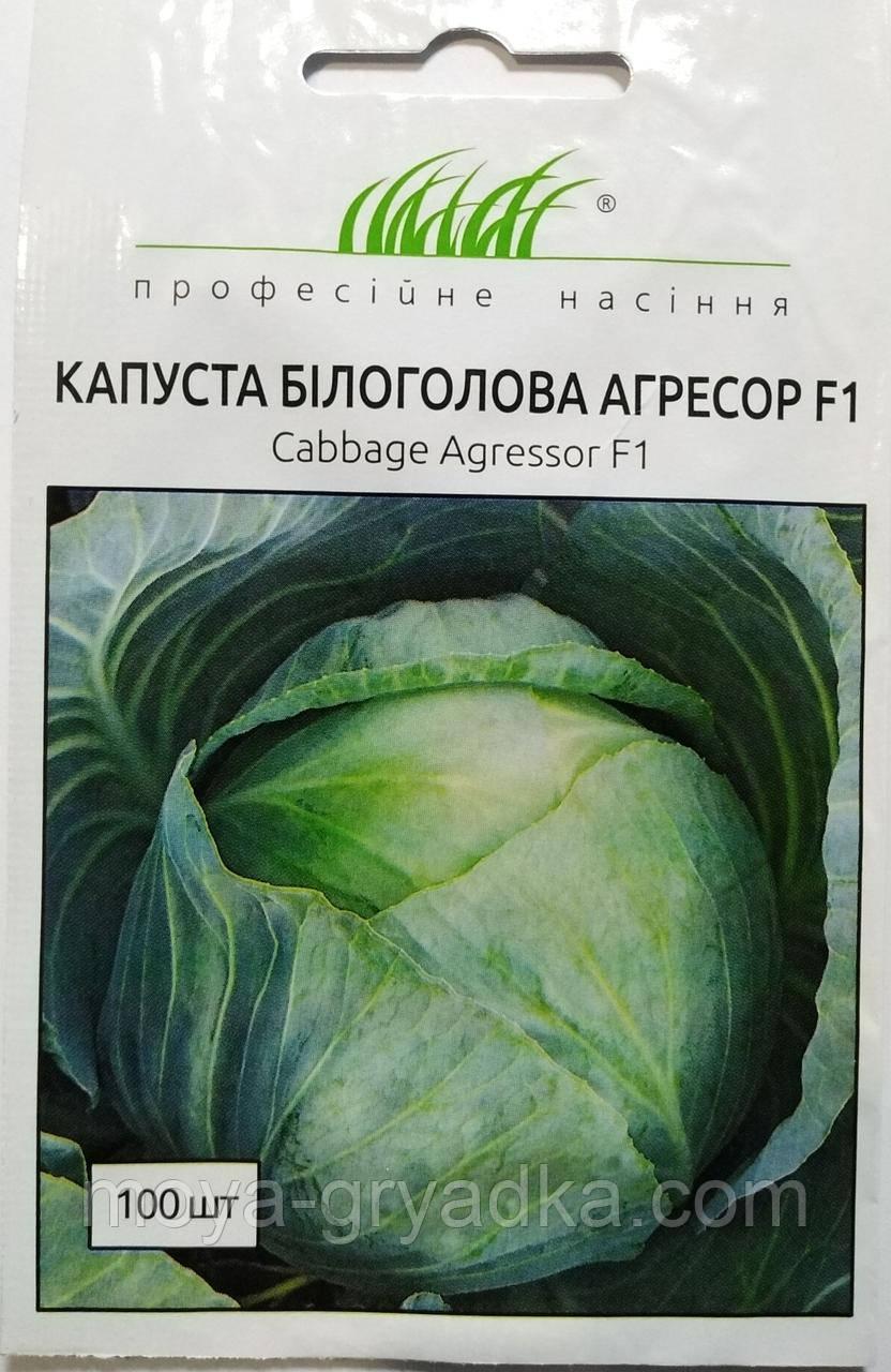 """Насіння Капуста Білоголова Агресор F1 100 шт ТМ """" Професійне насіння """""""