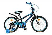 """Велосипед 18"""" Formula SPORT 2020 (оранжево-синий с черным)"""