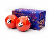 9290017 Массажные шары Баодинга пара Эмаль Инь Ян красные