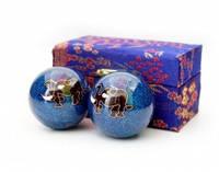 9290017 Массажные шары Баодинга пара Эмаль Слоник синие