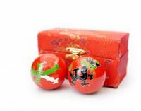 9290016 Массажные шары Баодинга пара Эмаль Дракон Феникс красные