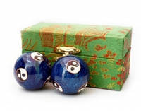 9290015 Массажные шары Баодинга пара Эмаль Инь Ян синие