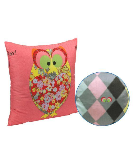 Подушка Руно декоративная силиконовая Owl Red