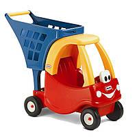 Детская Игровая Каталка-Коляска тележка для игрушек с корзиной с мордочкой на колесах 68х26х57 см Little Tikes
