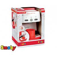 Детская Игрушечная Кофеварка с отсеком для кофе, чашка, звуковые и световые эффекты красная - Mini Rowenta Smoby