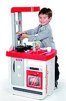 Детская Игровая Интерактивная Кухня красная с плитой со звуком 23 аксессуаров Bon Appetit Smoby Смоби