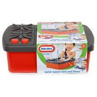 Детский Игровой Набор Кухня Раковина с Плитой с краном и подачей воды 13 предметов Little Tikes Литтл Тайкс