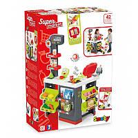 Детский Игровой Интерактивный Развивающий Набор Супермаркет с электронной кассой 42 предмета 89х60х59 см Smoby
