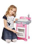 Детский Игровой Набор Для Девочек с посудомоечной машиной и мойкой розовый со столовыми предметами Carmen