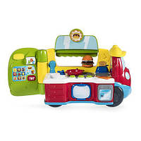 Детский Игровой Набор Музыкальный Фургон-Кухня двуязычная обучающая игрушка 2-в-1 на колесах Chicco Чико