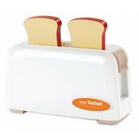 Детский Развивающий Игрушечный Тостер Для Кухни белый на два хлеба с рычажком Mini Tefal Smoby Смоби 15х5х7 см
