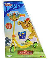 Детский Трехколесный Самокат Король Лев Lion Guard с широкой платформой, регулируемый руль 65 см, Smoby Смоби