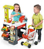 Детский Игровой Набор Магазин супермаркет с тележкой и электронной кассой с сенсорным экраном Smoby Смоби