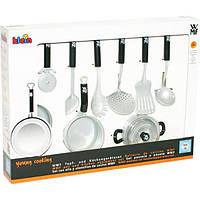 Детский Игрушечный Набор Посуды WMF для игровой кухни, 9 предметов: кастрюли, сковородка, аксессуары - Klein