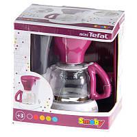 Детская Игрушечная Кофеварка с резервуаром для воды, фильтром для кофе, кофейником фиолетовая - Mini Tefal Smoby