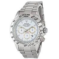 Наручные часы Rolex Daytona Quartz Date Silver Реплика 1020-0461, КОД: 1614891