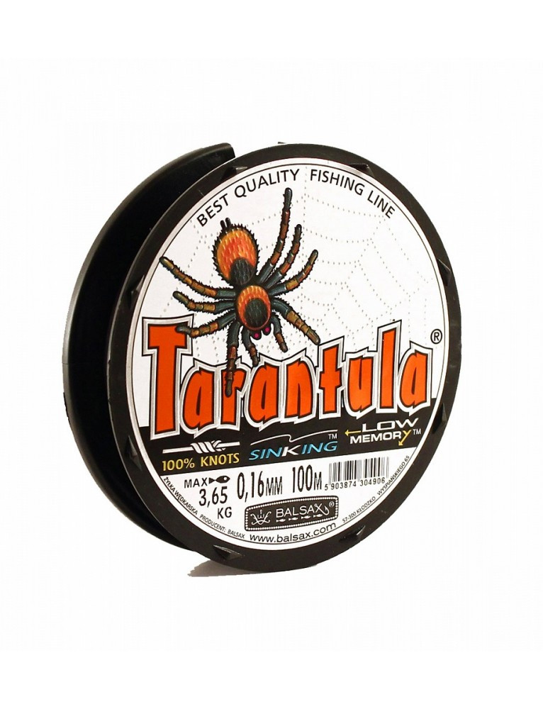 Волосінь Balsax Tarantula 100m темно-сіра