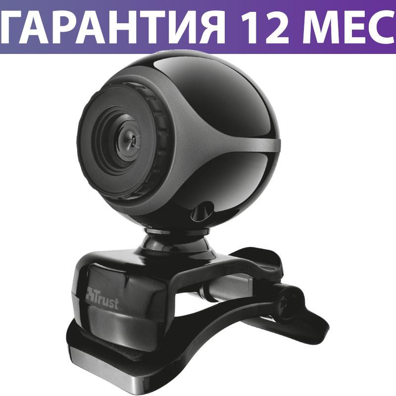 Веб-камера Trust Exis, Black, 0.3 Mp, 640x480, USB 2.0, встроенный микрофон (17003)