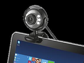 Веб-камера Trust SpotLight, Black, 0.3 Mp, 640x480, USB 2.0, встроенный микрофон, LED подсветка (16429), фото 3