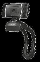 Веб-камера Trust Trino HD Video, Black, 1.3 Mp, 1280x720 / 30 fps, USB 2.0, встроенный микрофон (18679), фото 3