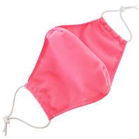 Маска защитная на лицо многоразовая 2-х слойная - розовая