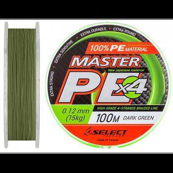 Шнур Select MASTER PE 100m темно-зеленый