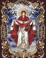 Алмазная вышивка икона Покрова Пресвятой Богородицы 40x50 см квадратные камни полная Чаривний диамант