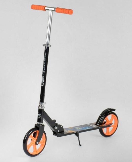 Самокат детский двухколесный для мальчика девочки 5 6 7 лет Best Scooter 42714 черный