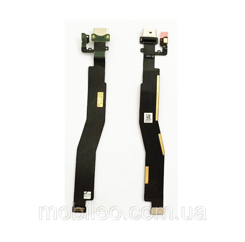 Шлейф для One Plus 3 | One Plus 3T | A3003 | A3010 с разъемом зарядки и компонентами