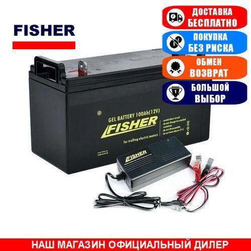 Тяговый GEL аккумулятор Fisher 65a/h + З/У 10А. Комплект; (Тяговый аккумулятор Фишер);