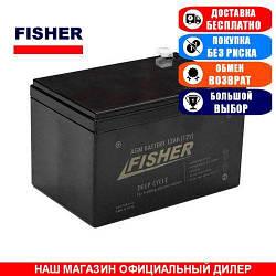 Тяговый AGM аккумулятор Fisher 12a/h (Тяговый аккумулятор Фишер);