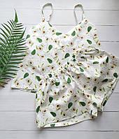 Жіноча літнє піжама в авокадо, фото 1