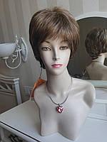 Парик женский короткий из искусственных волос, цвет русый мелированный