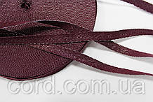 Тесьма Киперная 10мм 50м бордо + серебро