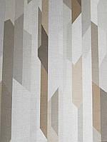 Ообои виниловые на флизелине Decoprint Moments MO22822 геометрия абстракция разные цвета серый коричневый