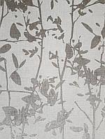 Ообои виниловые на флизелине Decoprint Moments MO22872 листья ветки серебряные на светло сером фоне