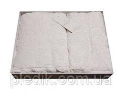 Набор полотенец хлопок 85x150, 50x100 Maison Dor Sanda кремовый пл.550г/м2