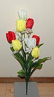 """Розница 160  Тюльпан """"Три цвета""""  9 голов 55х8 см"""