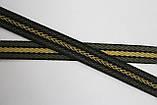 Тесьма Киперная 15мм 50м черный + хаки + беж, фото 2