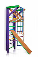 Детский деревянный спортивный комплекс для дома SportBaby Разноцветный (Карусель 3-220)