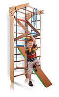 Деревянная шведская стенка с доской для пресса турником SportBaby Kinder 3-220 Коричневая (Kinder 3-220)